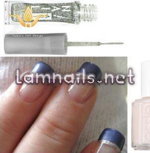 10 kiểu nail phá cách từ mẫu nail Pháp