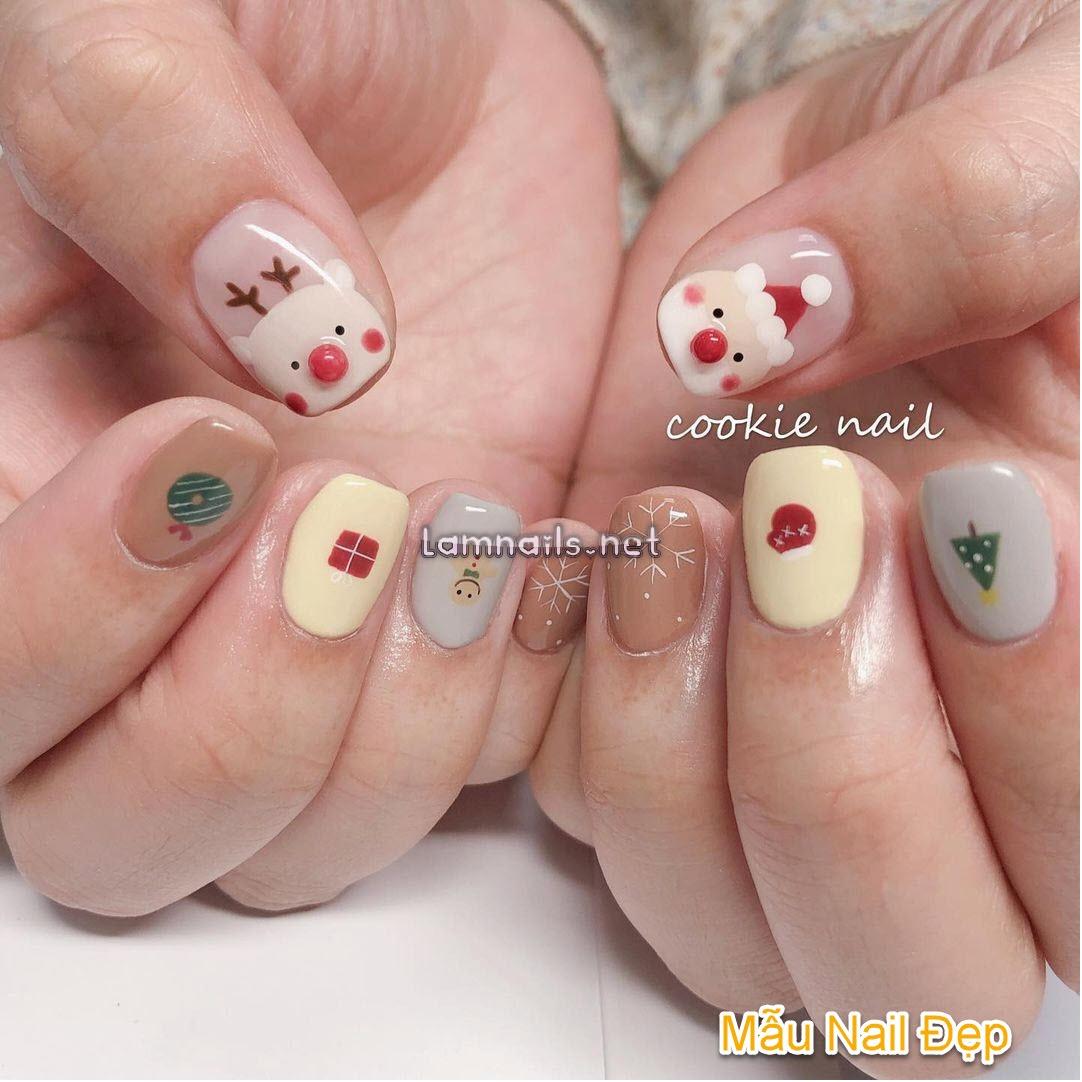 Mẫu Nail Đẹp: Học vẽ nail người tuyết đón Giáng Sinh 2021, xu hướng nail 2022