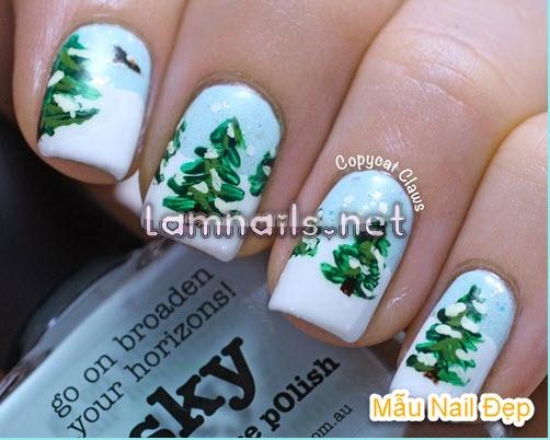 Mẫu Nail Đẹp: Dạy vẽ nail cây thông đón giáng sinh, xu hướng nail 2022