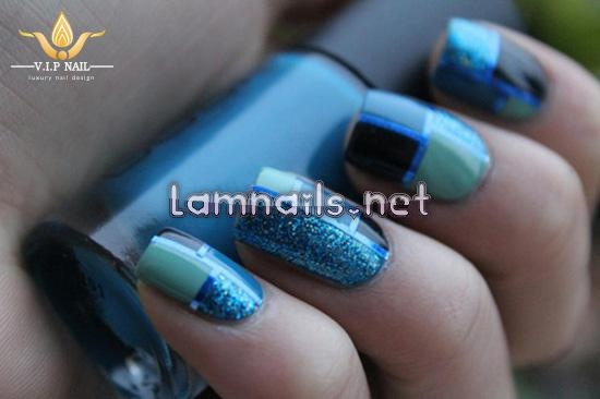8 mẫu nail xanh đẹp ấn tượng chào hè