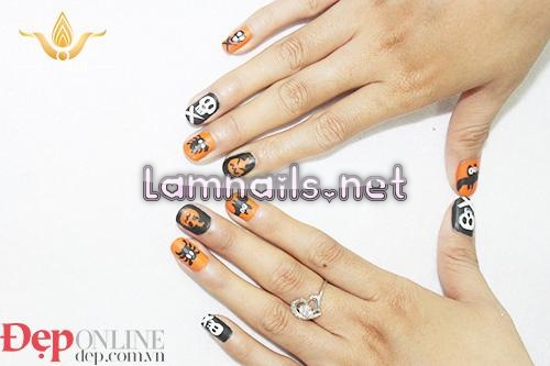 cách vẽ nail Halloween - baogiadinh.vn