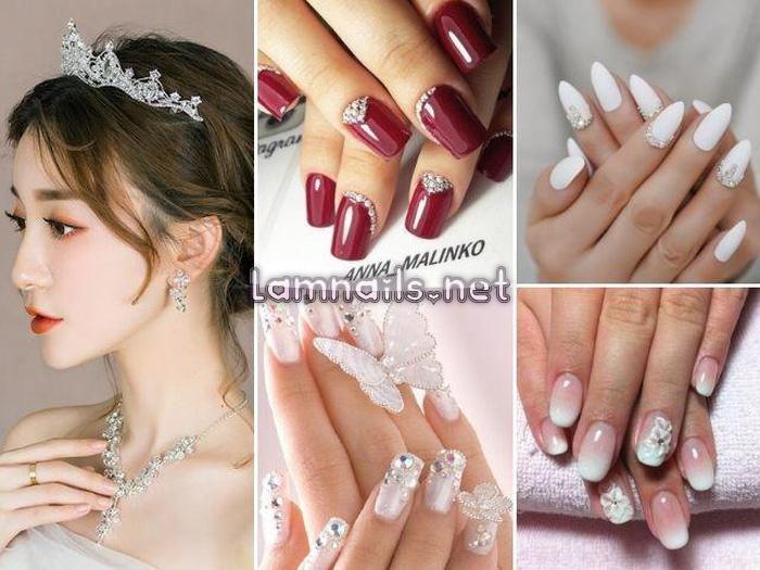 Mẫu Nail Đẹp: Học vẽ nail cô dâu trang nhã, xu hướng nail 2021