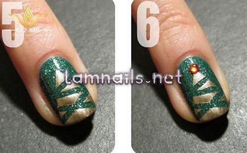 dạy vẽ nail cây thông - baogiadinh.vn