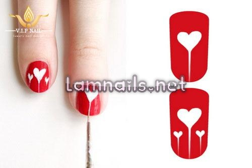 học vẽ móng tay ngọt ngào đón Valentine; - baogiadinh.vn