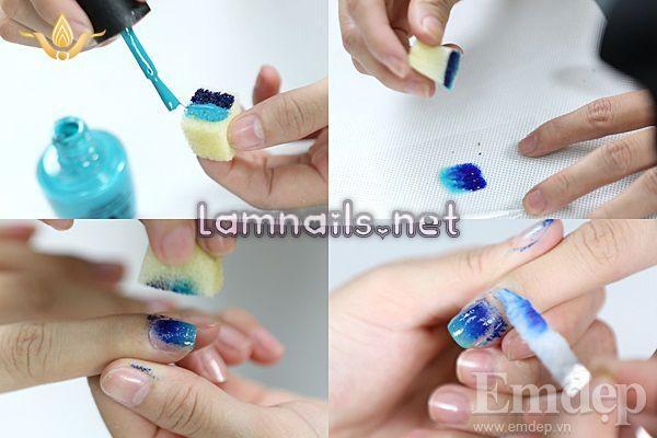 Mẫu nail Đẹp: Học vẽ nail Ombre và nail chữ thập, xu hướng nail 2021