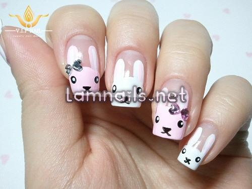 học vẽ nail thỏ ngộ nghĩnh đáng yêu; - baogiadinh.vn