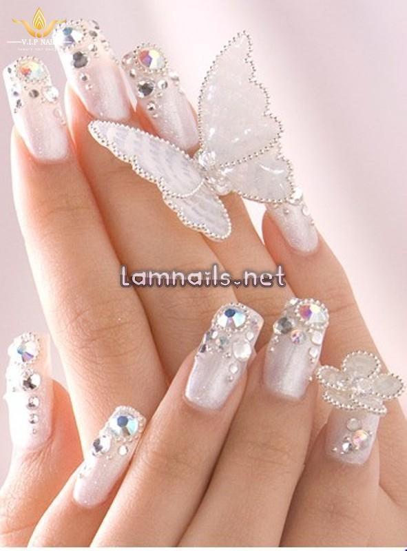 nail đính đá cho cô dâu - baogiadinh.vn