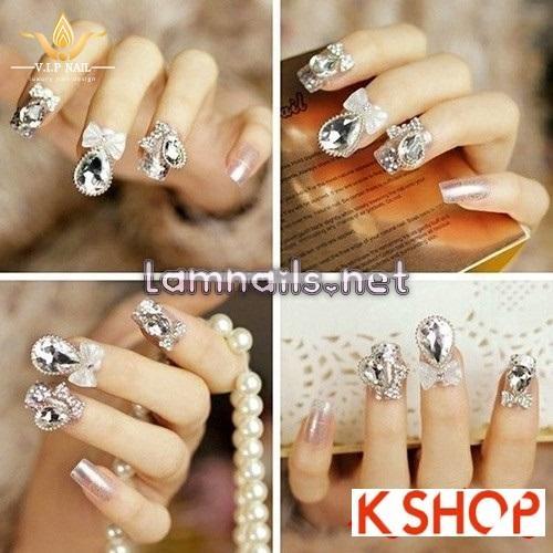 mẫu nail đẹp cho cô dâu lộng lẫy ngày cưới; - baogiadinh.vn