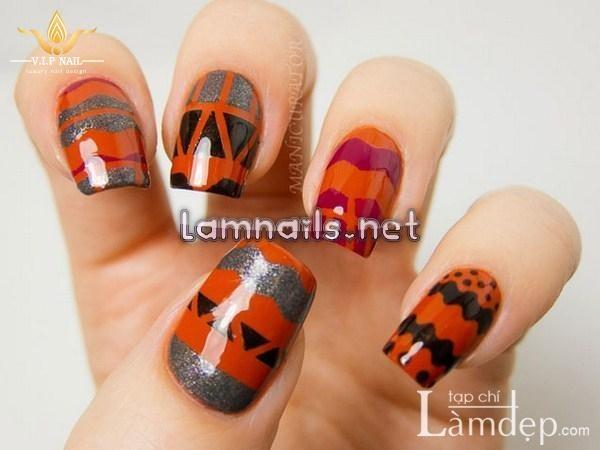 Rực rỡ mùa thu đông với mẫu nail màu Metallic