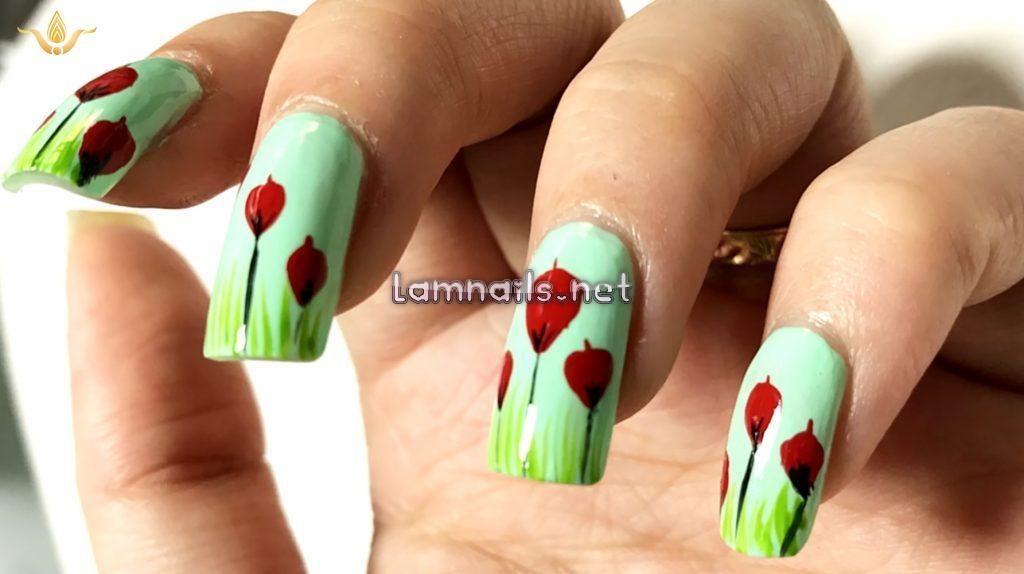 Video hướng dẫn vẽ nail hoa tulip; - baogiadinh.vn
