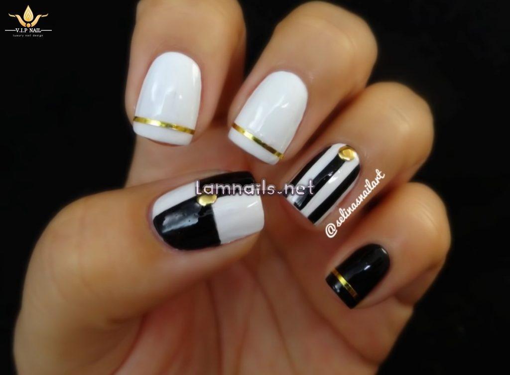 Video vẽ nail đen trắng - baogiadinh.vn