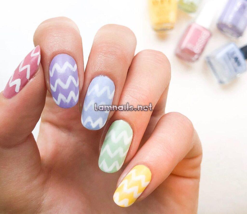 Mẫu nail zigzag, xu hướng nail 2021, cách vẽ nail zigzag bắt mắt tại nhà -  Mẫu Nail Đẹp