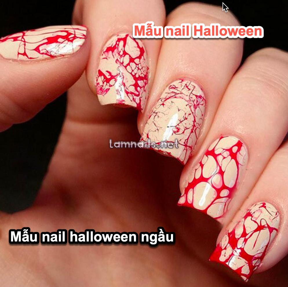 mẫu nail halloween ngầu cool ma mị