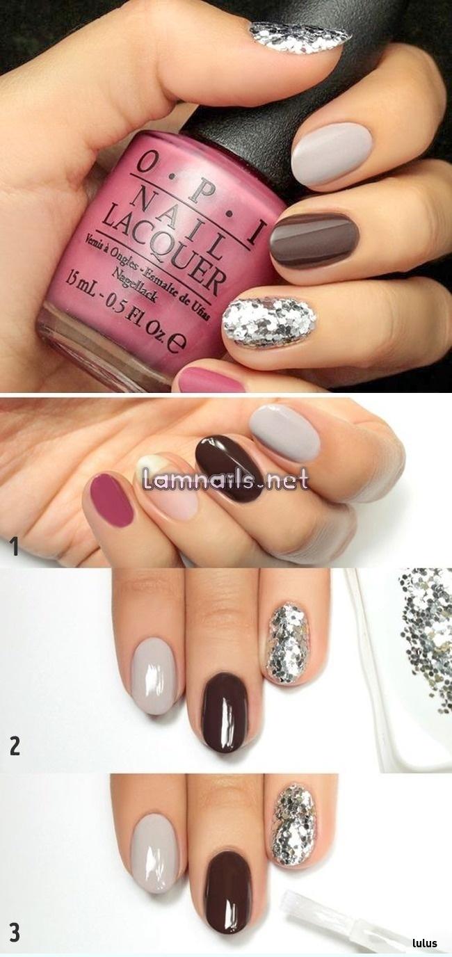 Phối nhiều màu sắc trên cùng một bàn tay tạo điểm nhấn