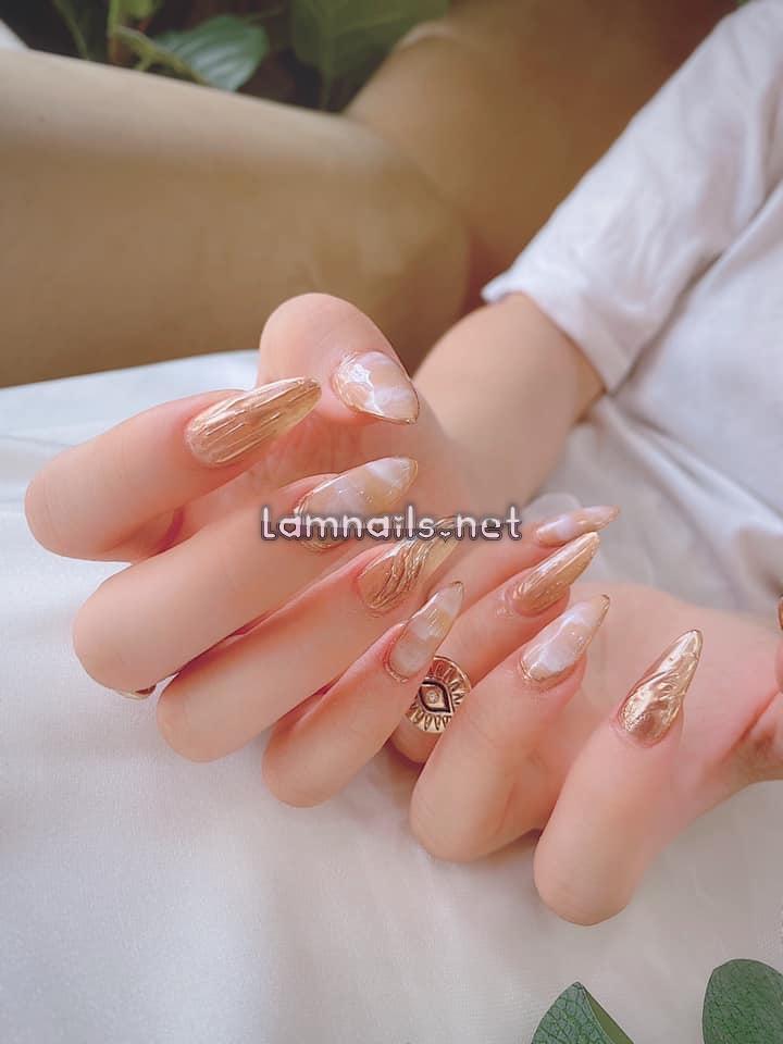 Mẫu nail xà cừ sang trọng - Tây Thy Nails