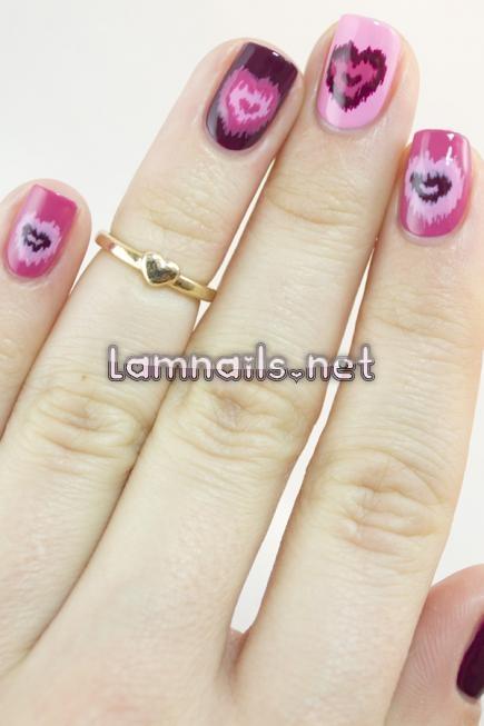 nail trái tim vải dễ thực hiện - lamnails.Net