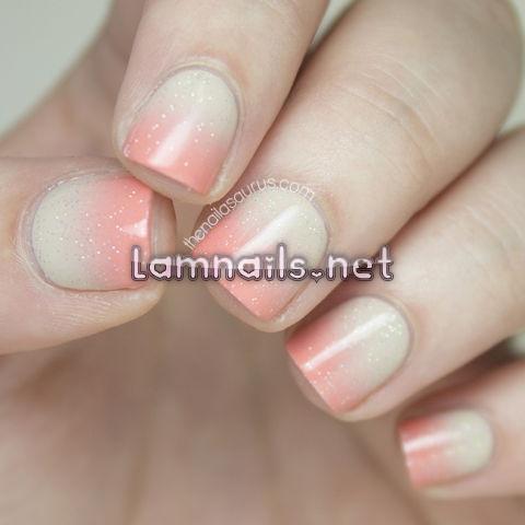 peach-nude-gradient-nail-art - lamnails.Net