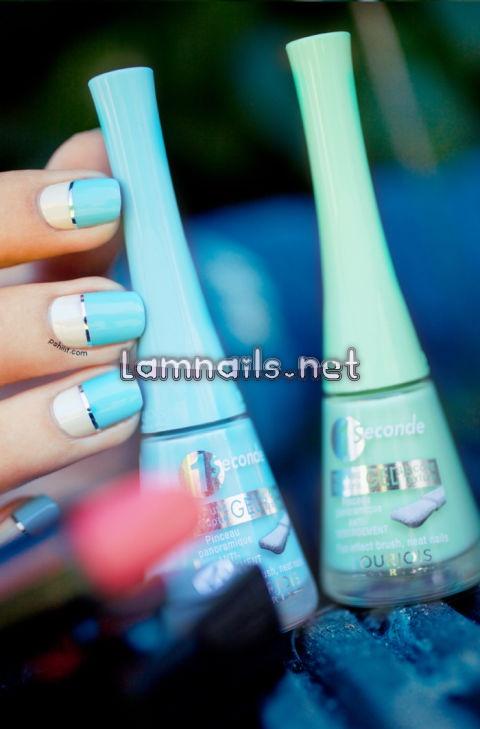 blue-white-color-block - lamnails.Net