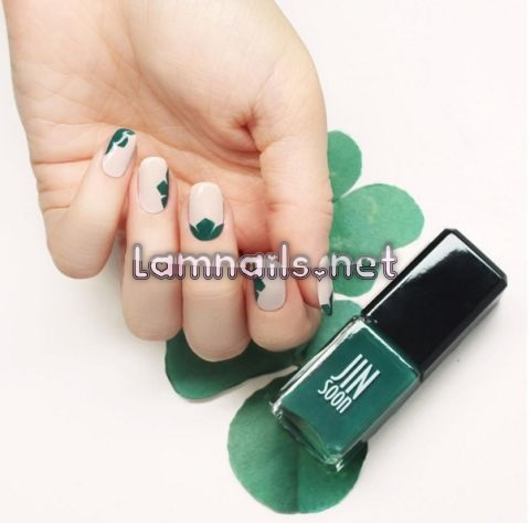 green-and-nude-mani-jin-soon-choi - lamnails.Net