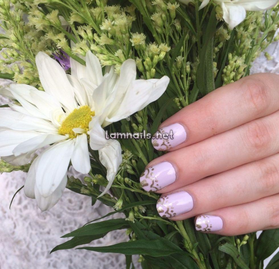 gilded-lace-nails-julep - lamnails.Net