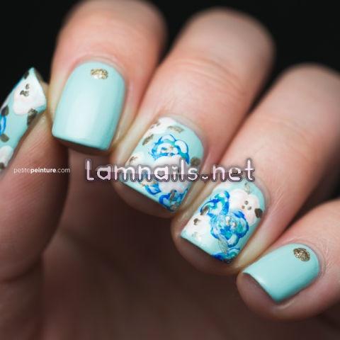 something-blue-manicure-petite-peinture - lamnails.Net