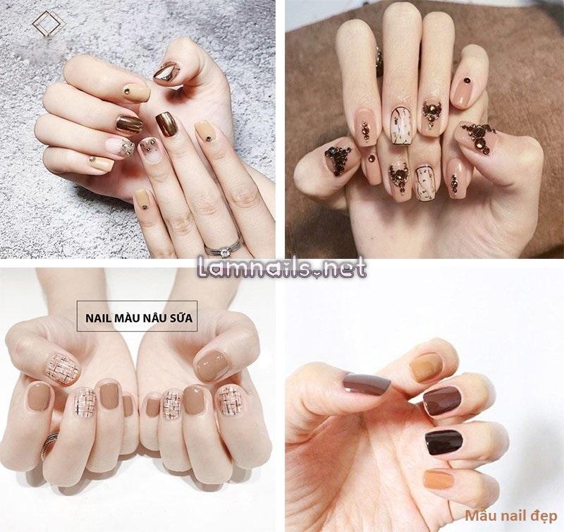 Mẫu nail học sinh: Mẫu nail cho da ngăm lựa chọn, xu hướng nail 2021