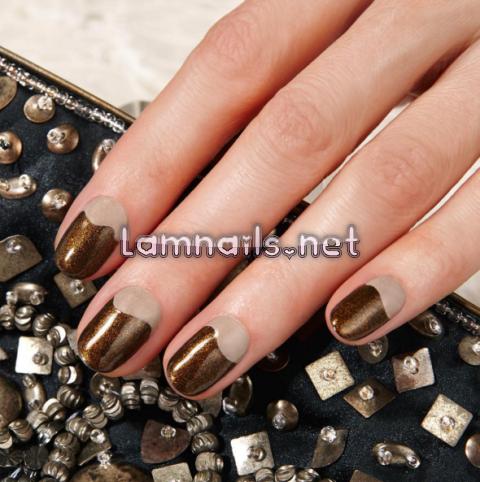 bronze-nail-art - lamnails.Net