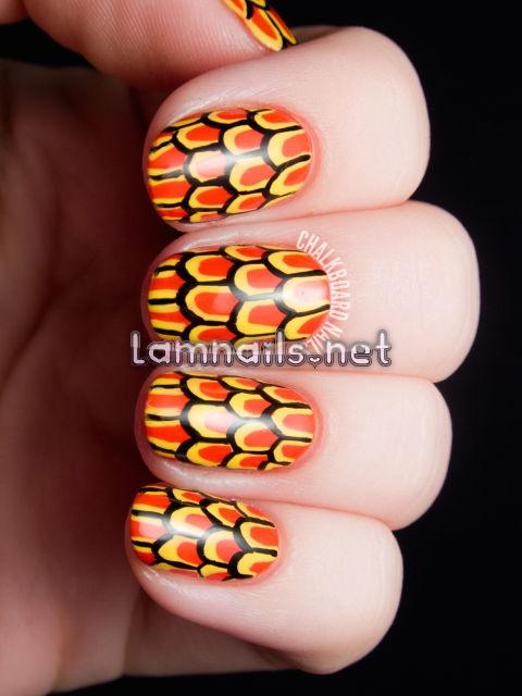 goldfish-scales-otohime-nail-art-3 - lamnails.Net
