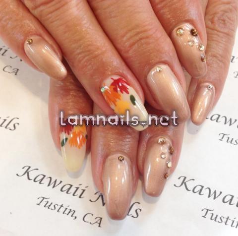fall-leaves-nail-art - lamnails.Net