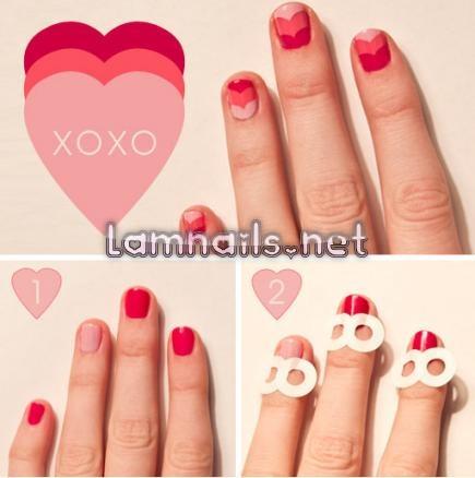 heartchevron - lamnails.Net