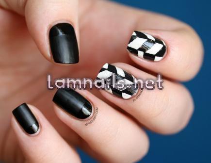 black-and-white-geometric-pattern_109996 - lamnails.Net