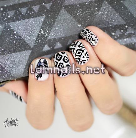 black-and-white-mixed-prints_109994 - lamnails.Net