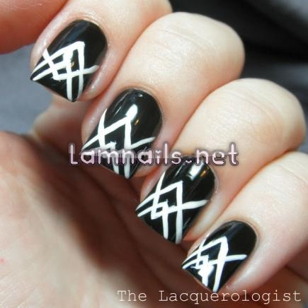 black-and-white-angled-lines_109991 - lamnails.Net