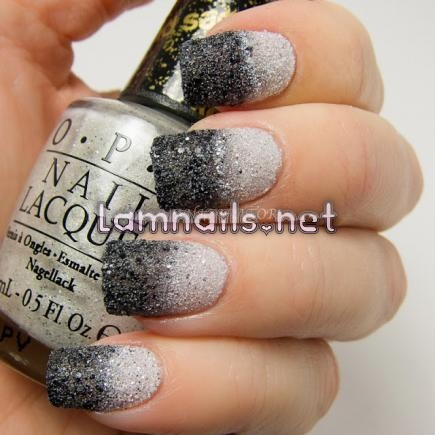 black-and-white-textured-ombre_109988 - lamnails.Net