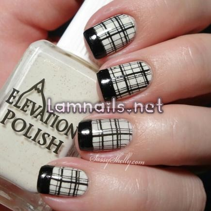 black-and-white-plaid_109987 - lamnails.Net