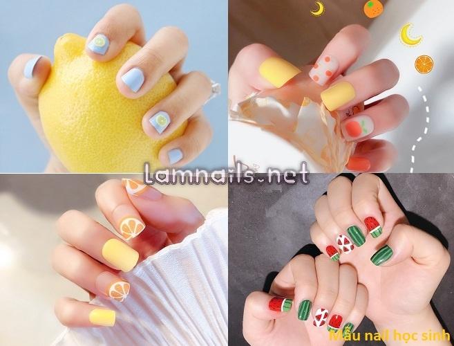 Mẫu nail học sinh: Các mẫu nail đơn giản dể thương, xu hướng nail 2021