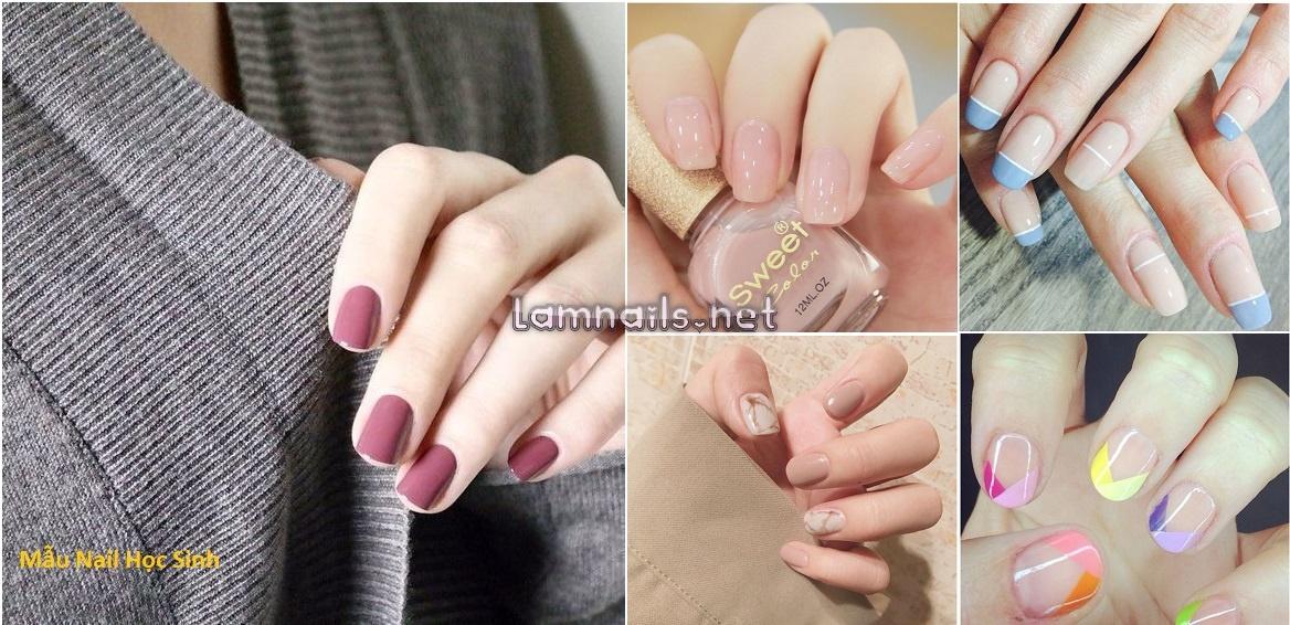 Mẫu nail học sinh: Những mẫu nail đẹp nhẹ nhàng cho học sinh đến trường, xu hướng nail 2021