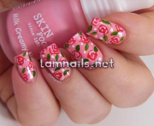 Tips vẽ hoa hồng lên móng tay cực hay - Làm đẹp