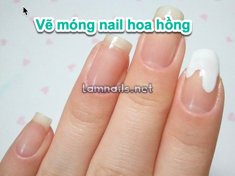 Cách vẽ móng nail hoa hồng đẹp và dễ dàng