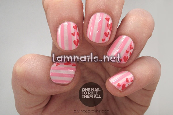 try-simple-striped-valentines-day-nail-art_227560 - lamnails.Net