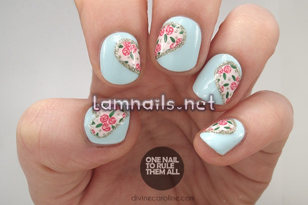 hearts-and-flowers-perfect-valentines-day-nail-art_227514 - lamnails.Net