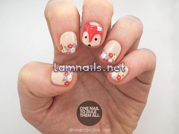nail-art-tutorial-fantastic-floral-fox_91568 - lamnails.Net