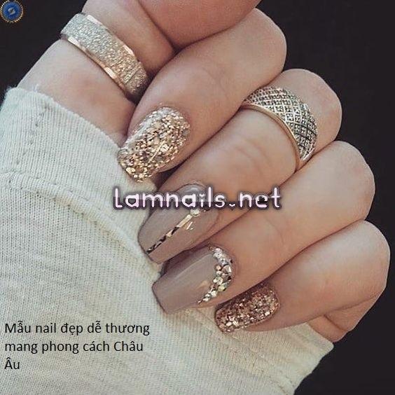 Tuyển tập các mẫu nail đẹp dễ thương mang phong cách Châu Âu sang trọng