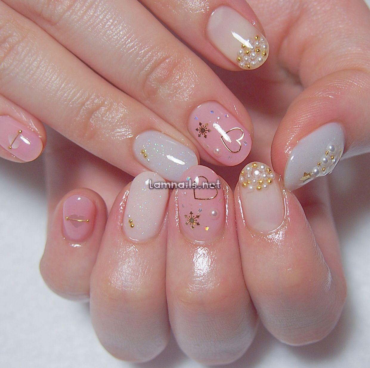cateye nails in 2021 | Asian nails, Swag nails, Heart nails