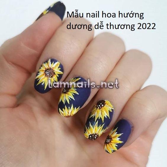 Tuyển tập mẫu nail hoa hướng dương đẹp sắc sảo dành cho nàng thơ năm 2021-2022